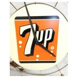 VIEW 2 CLOSE UP UNUSUAL 7-UP CLOCK