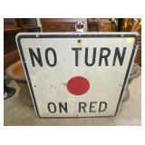 30IN. NO TURN ON RED SIGN