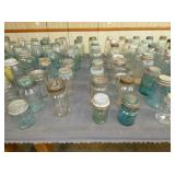 LRG. COLLECTION EARLY EMB. FRUIT JARS