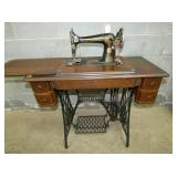 OAK SINGER PEDAL SEWING MACHINE