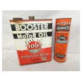 BOOSTER MOTOR OIL TIN