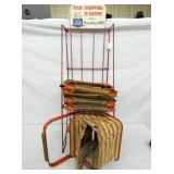 EARLY FOLD AWAY SHOPPING BASKETS DISPLAY