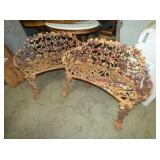 2 MATCHING CAST YARD BENCHES