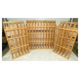 3 PINE HANDMADE WINE RACKS