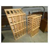 2 PINE HANDMADE WINE RACKS
