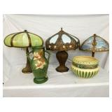 SLAG GLASS LAMPS/ROSEVILLE