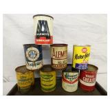VARIOUS GREASE CANS