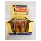 NOS STAFFORDS  MUCILAGE DISPLAY