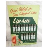 NOS LIP ADE DISPLAY W/PRODUCT