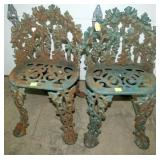 2 IRON YARD GARDEN CHAIRS
