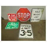 VARIOUS STREET SIGNS