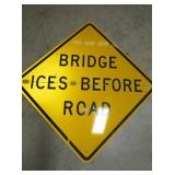 FOLDING 4FT. CAUTION BRIDGE SIGN