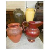 LARGE POTTERY FLOOR VASES