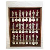 PEWTER SPOON COLLECTOR SET