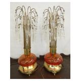 UNUSUAL MATCHING 16IN. LAMPS