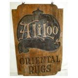 24X36 ALI LOO ORIENTAL RUGS WOODEN SIGN