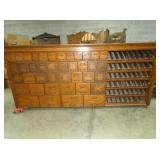 50X116 OAK COUNTRY STORE PRODUCT BIN
