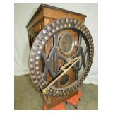35X38 OAK TIME CLOCK