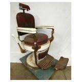 EMIL J. PAIDER PORC. BARBER CHAIR