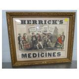 18X22 HERRICKS MEDICINES ADV.