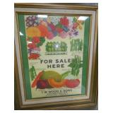 15X20 WOOD & SONS SEEDS ADV.