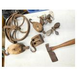 PRIM. PULLEYS & EARLY TOOLS