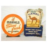 MARVELS/CAMEL EASEL BACKS