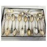 STERLING COLLECTOR SPOONS