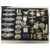 STERLING MILITARY PINS,MARKSMAN,OTHERS