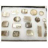 STERLING BUCKLES,MONEY CLIPS