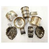 STERLING CUPS,NAPKIN RINGS