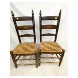 2 MATCHING EARLY NC CHAIRS
