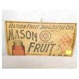 7X14 MASON FRUIT JARS BOX W/ LID