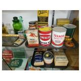 VARIOUS GAS AND OIL ADV. CANS