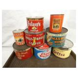OLD STOCK COFFEE CANS/TINS