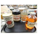 OLD STOCK HONEY,WATER,SYRUP JARS