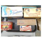 OLD STOCK BOXES,CHEESE, SUNBEAM ETC