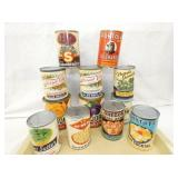 OLD STOCK VEGETABLE CANS