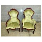 WALNUT VICT. MATCHING PARLOR CHAIRS