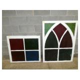MATCHING STAINED GLASS WINDOWS