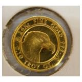 VIEW 2 BACKSIDE 2013 GOLD COIN