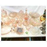 SEV. PIECES PINK DEPRESSION GLASS