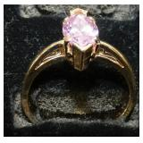 PINK ICE GOLD RING