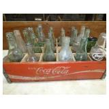 EARLY DRINK BOTTLES W/ CRATE