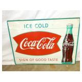 18X24 COKE FISHTAIL SIGN