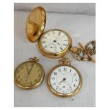 ILLINOIS AND ELGIN POCKET WATCHES