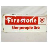 11X25 FIRESTONE THE PEOPLE TIRE SIGN