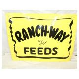 35X45 RANCH WAY FEEDS SIGN