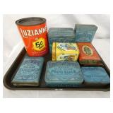 TOBACCO AND LUZIANNE TINS