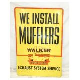 27x40 EMB. WALKER MUFFLERS SIGN